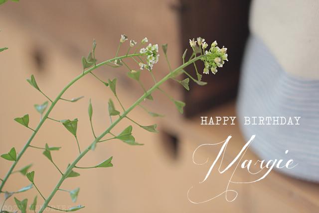 Happy Birthday sweet Margie !!