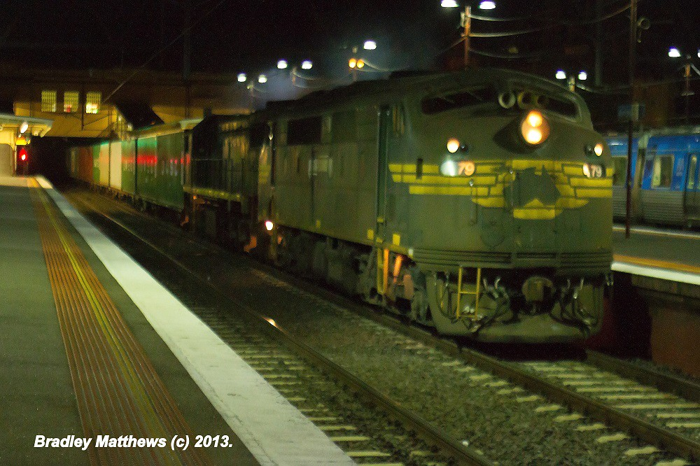 A79-X49 on #9462 up Maryvale Paper Train at Sth Yarra (15/4/2013) by Bradley Matthews