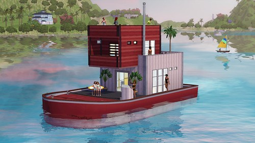 Curved houseboat
