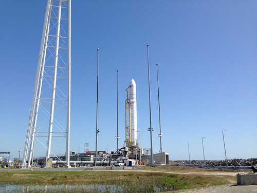Antares rocket at Pad 0A