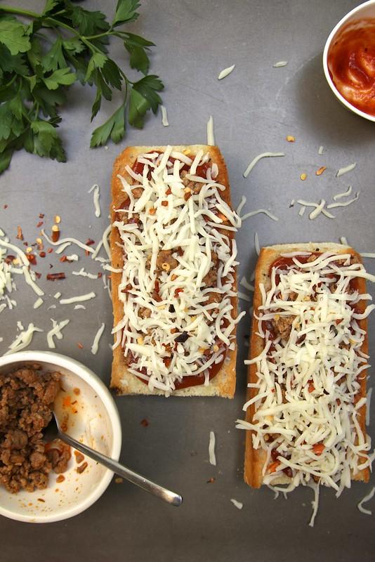 French Bread Pizza: 2 ways