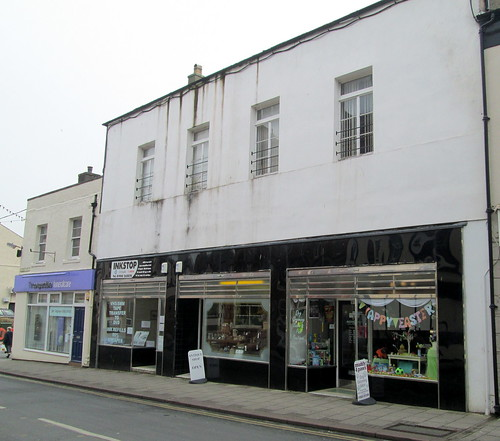 Art Deco shop frontage in Maryport, Cumbria