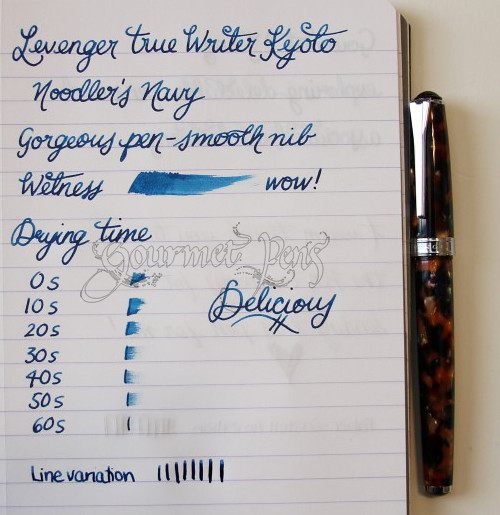 Levenger True Writer Kyoto Writing Sample