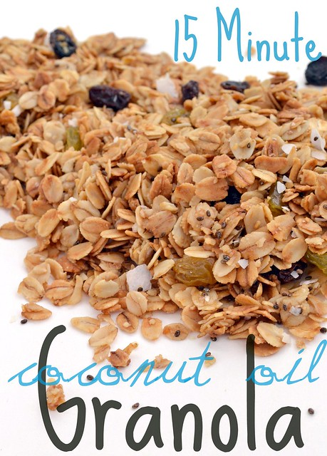 15 Minute Coconut Oil Granola
