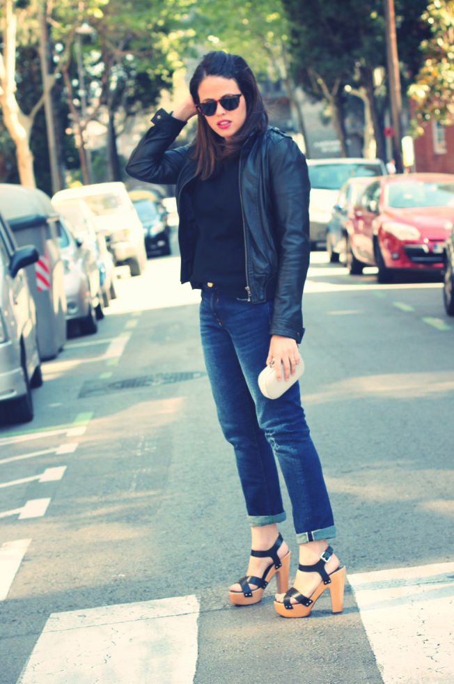 Look black and denim - Monicositas