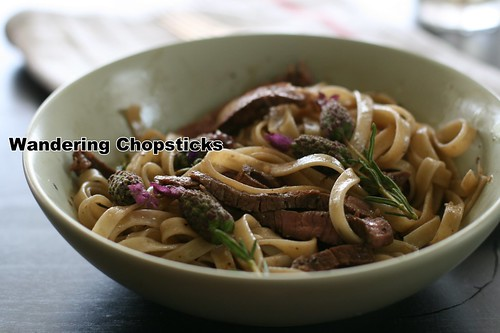 Lavender-Grilled Steak Fettucine 8