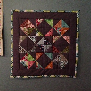 My DS Doll Quilt is up in my studio:) thanks Sam!