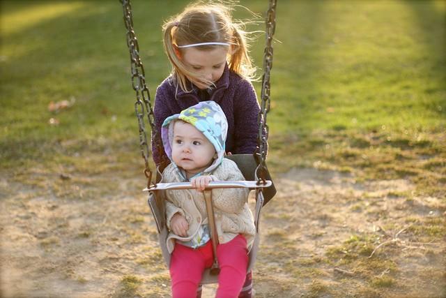 Swing set sisters