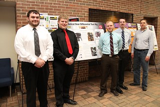 Helical Gear Differential Test Rig Team with poster