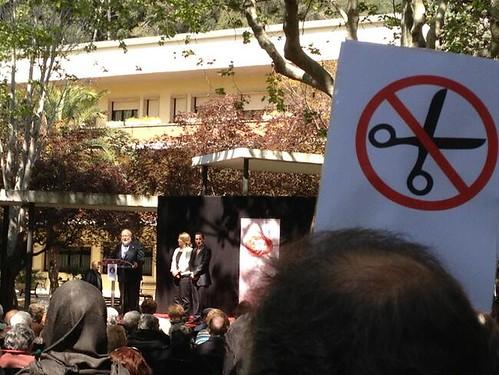 imatge acció de protesta a mundet 25 d´abril 2013