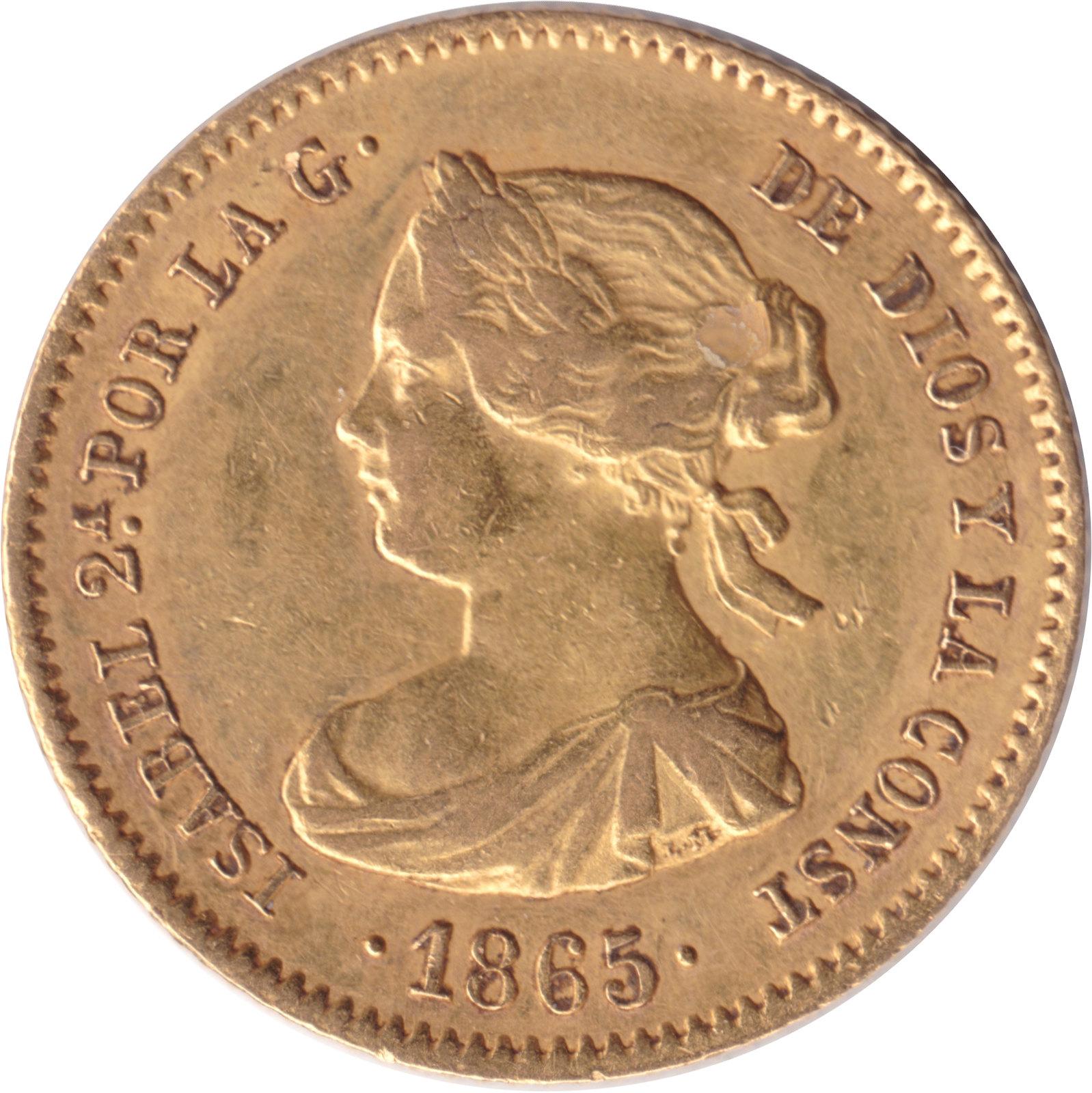 4 Escudos Isabel II 1865 (subasta Cayon 24 abril)  8683598498_f1ac40bc5a_h