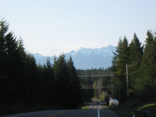April Overnight Day 1 - Olympic Mountains in the Distance