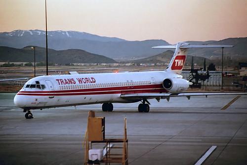 TWA MD-80 at RNO