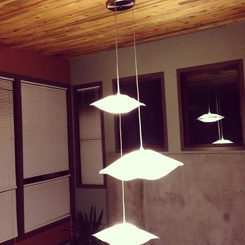 Lights in @joshhudnall's new office.