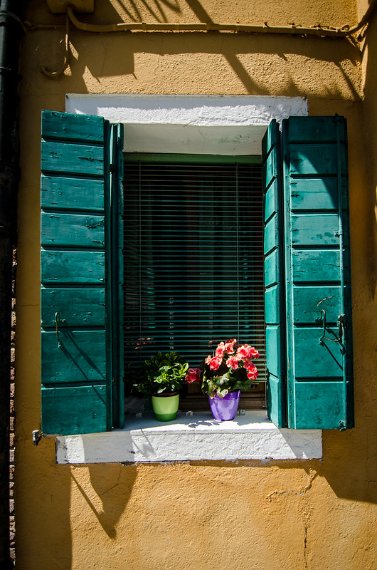 A picture perfect windowsill in Burano, Italy.