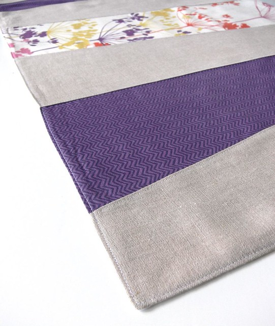 Jenny Bartoy: wonky stripes table runner