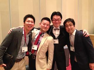 Shu Takahashi, Haruhiko Matsuoka, Toshikatsu Inoue and me