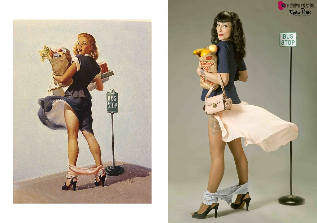 Pin-up: bus stop