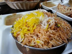 Goat biryani AUD13 - close - Chilli India Express,…