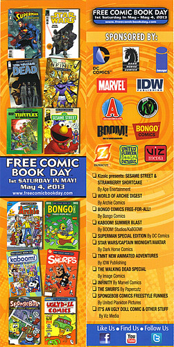 FREE COMIC BOOK DAY :: Promotional Bookmark (( 2013 ))