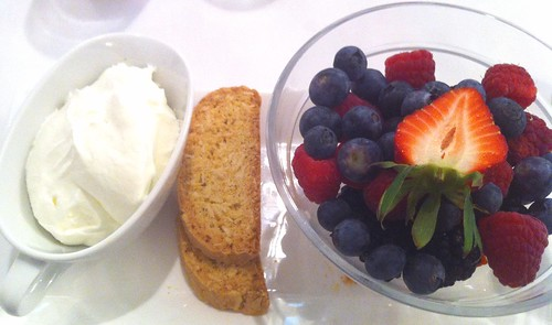 berries and fresh cream