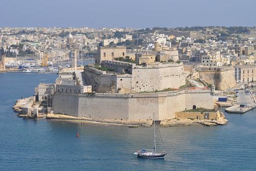 Fort St Angelo from Upper Barrakka Gardens