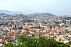 View of Nazareth from the rooftop of our guesthouse