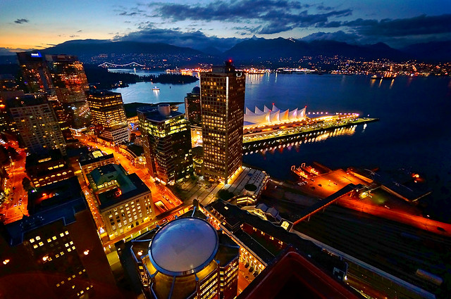 Vancouver City Skyline at Twilight