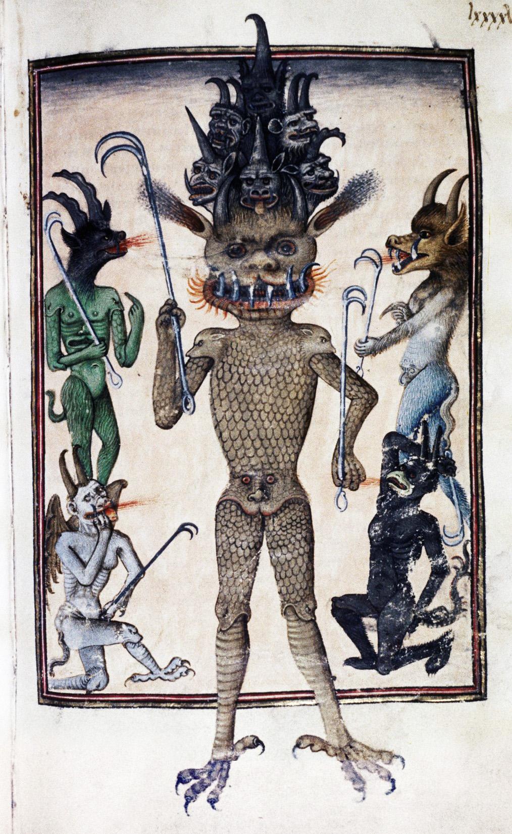 Demons From The Livre de la vigne nostre Seigneur, 1450 - 70 (1)