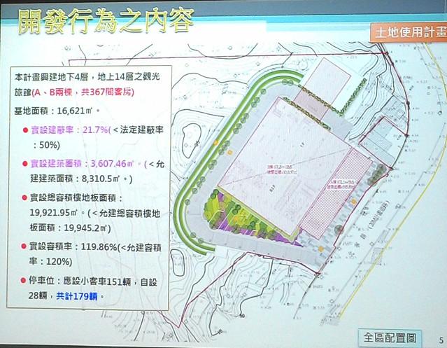 「基隆八斗子旅館開發案」計畫範圍面積。攝影:林倩如。