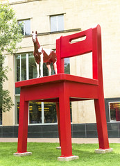 Horse In Red Chair