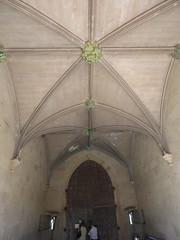 Hampton Court Castle Gardens & Parkland - the castle - inner courtyard - arched ceiling and big castle doors