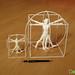 3D Printed Vitruvian Man 200mm by Dot San