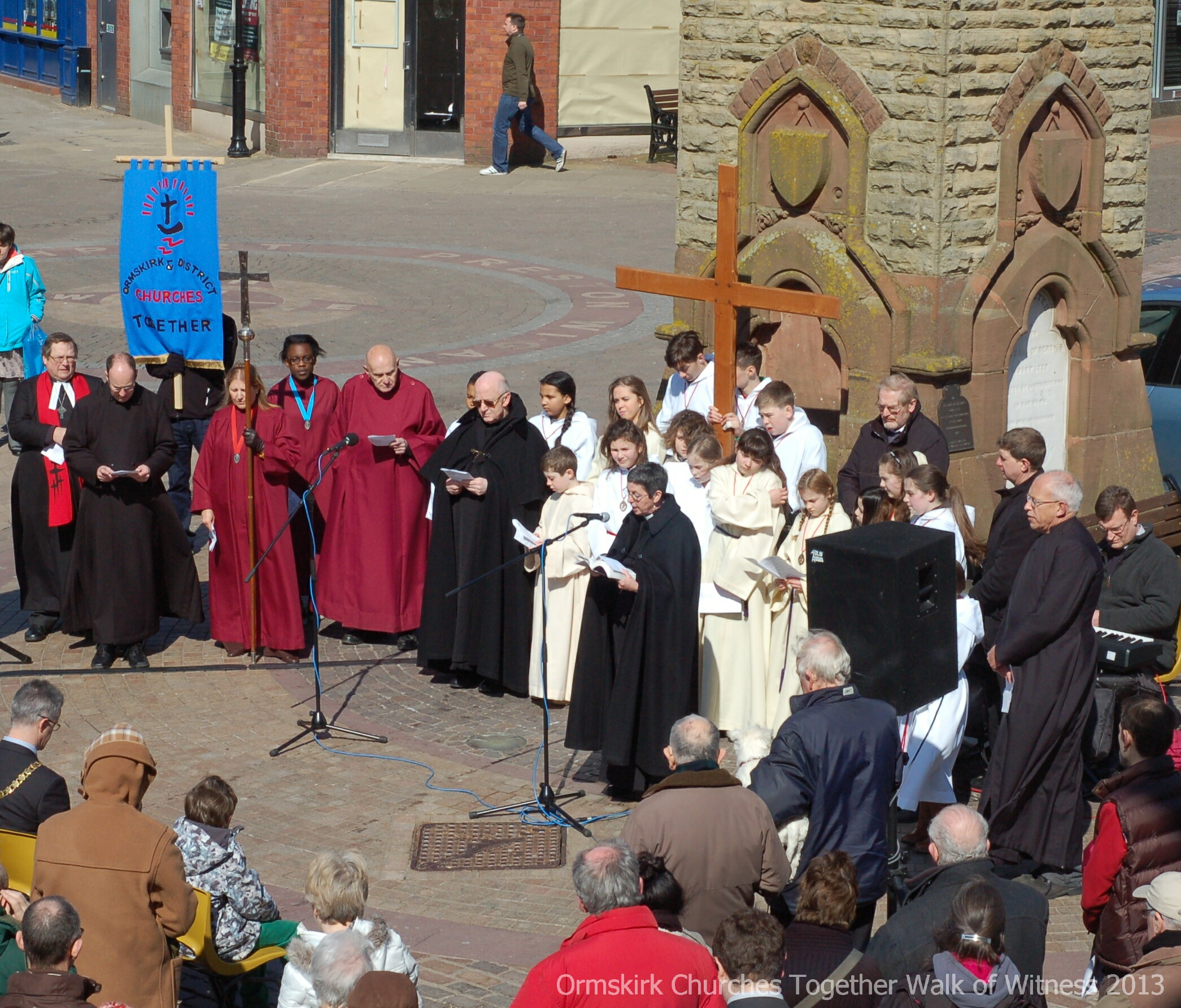Ormskirk Good Friday 2013 Walk of Witness Service