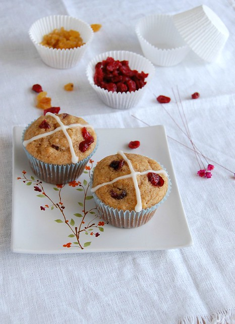 Hot cross muffins / Muffins hot cross