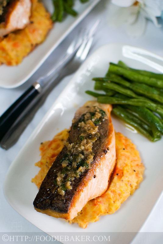 Pan Fried Salmon With Lemon Butter Capers Sauce