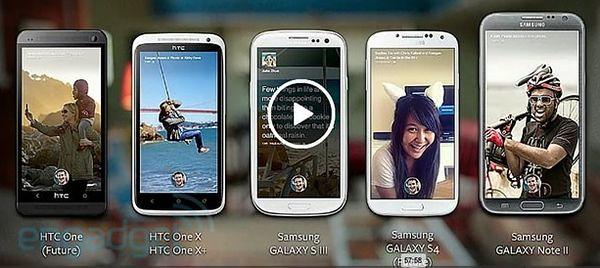 Смартфоны под Facebook Home