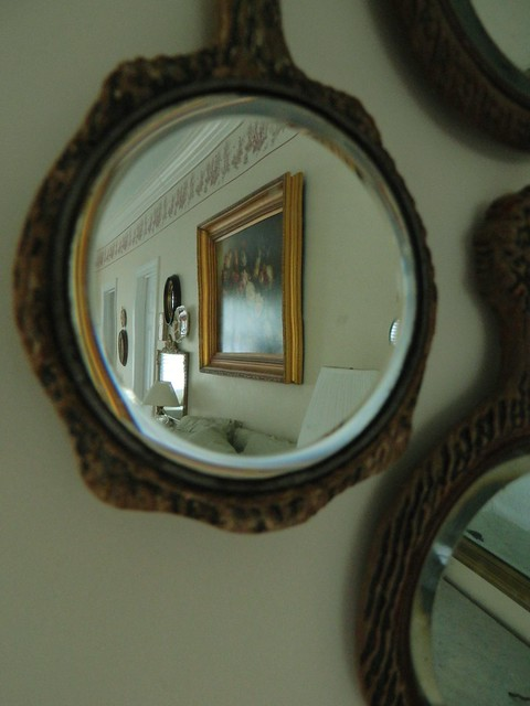 hand mirrors as wall decor