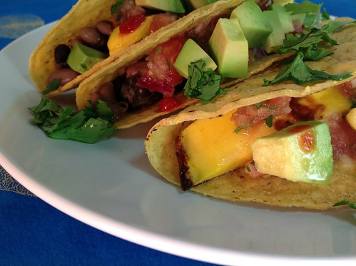 Grilled Mango and Bean Tacos