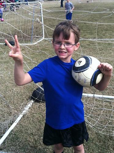 Nate scores three goals!