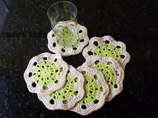 Porta copos de flor