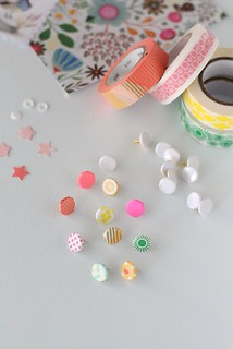 washi tape covered tacks