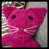 Hot pink chenille Tummy kitty