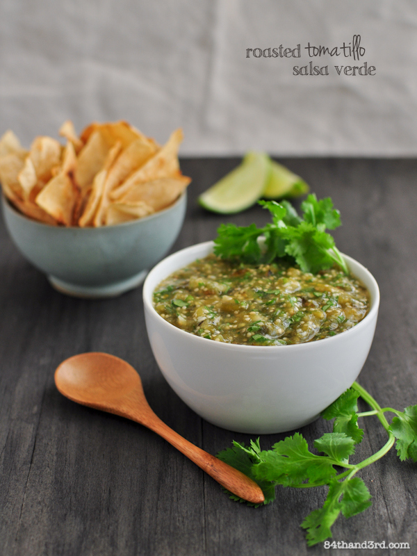 Roasted Tomatillo Salsa Verde - 84th&3rd