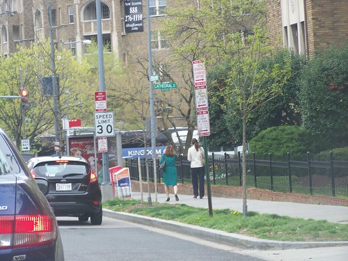 30 mph speed limit sign, 3000 block of Wisconsin Avenue NW