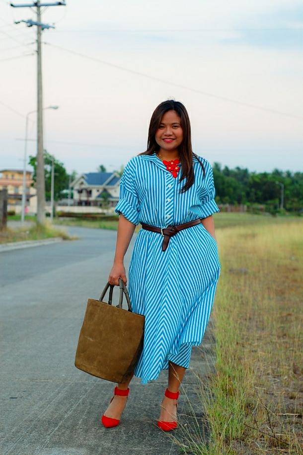 vintage inspired 60's dress, zara heels and bag