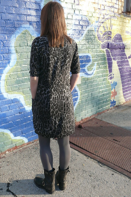 Cheetah print ponte dress