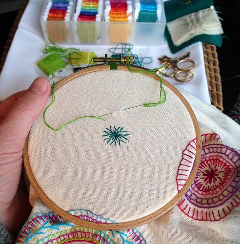 Thread Mandala in the making by MagaMerlina