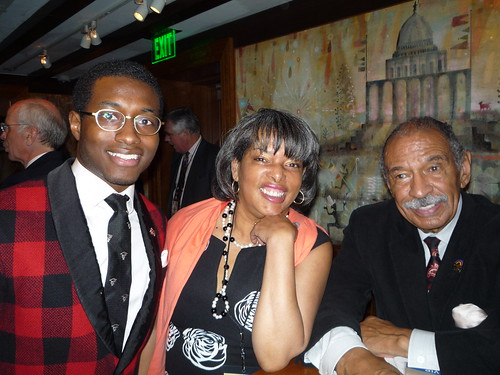 Rep. John Conyers and CBS radio personality Justine Love