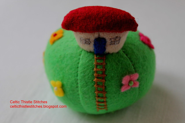 House pincushion front